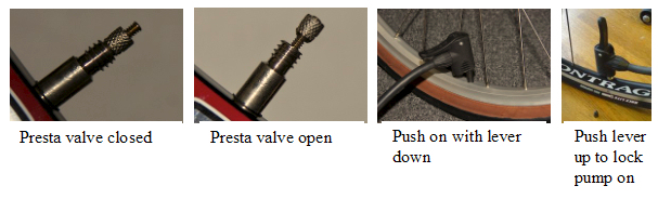 Presta valve & pump